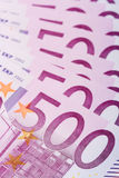 500 billets de banque euro Photo libre de droits