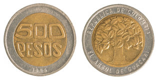 500 Colombian pesos coin Stock Photo