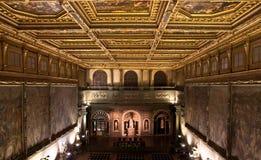500 de佛罗伦萨palazzo salone vecchio 库存照片