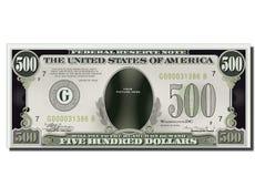 500 dólares engraçados em branco da nota de banco dos EUA Foto de Stock Royalty Free