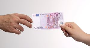 500 Euro Royalty Free Stock Photos