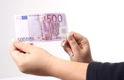 500 euro Royalty Free Stock Image