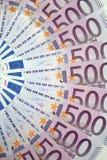 500 EURO foto de stock