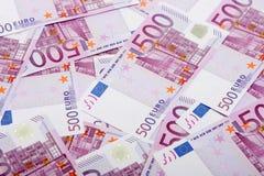 500 euro banconote Fotografie Stock
