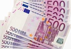 500 euro banknotes. On white background (European Union Royalty Free Stock Images