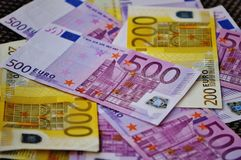 500 Euro Bill Royalty Free Stock Photo