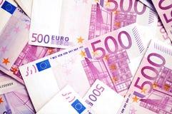 500 euro billets de banque d'argent Photo libre de droits