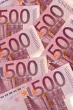 500 euro, cinquecento Fotografie Stock Libere da Diritti