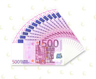 500 euro fan Stock Images