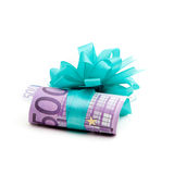 500 euro money gift Stock Photography