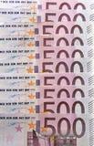 500 euro- notas Fotos de Stock