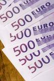 500 euro- notas de banco Foto de Stock Royalty Free