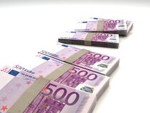 500 Euro notes Stock Image