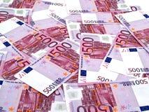 500 euroachtergrond Stock Afbeeldingen