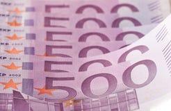 500 euroanmärkningar Arkivfoton
