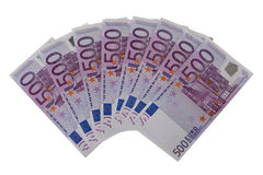 500 Eurobanknoten Stockfotos