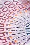 500 Eurobanknoten heraus aufgelockert Lizenzfreies Stockbild