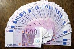 500 euros Royaltyfri Foto