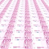 500 euros Background Stock Photography
