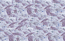 500 euros bills. Royalty Free Stock Images