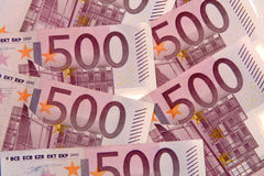 500 euros fem hundra Royaltyfri Bild