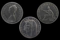500 Lire Silbermünzen Stockfoto