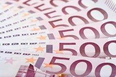 500 luftade anmärkningar för grupp euro ut Arkivfoto