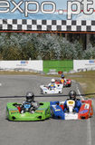 500 miles of Battle / Palexpo CPRTP 2009 of  Kart. BATALHA, PORTUGAL - MAY 30:  Teams participating in the 500 miles of Battle / Palexpo CPRTP 2009 of Batalha on Royalty Free Stock Photography