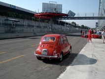 FIAT 500 in Monza Royalty Free Stock Photos