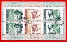 500 narodziny Michelangelo stemplowych rok obrazy royalty free