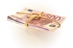 500 pacotes do euro Fotos de Stock Royalty Free