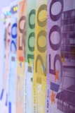 From 500 to 5. Complete set of European banknotes from 500 to 5 hundred Euro Royalty Free Stock Images