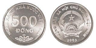 500 vietnamese dong coin Royalty Free Stock Photo