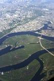 5000 au-dessus de la terre de planète Photo libre de droits