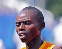 5000 contadores de los hombres del sudor de Uganda de pista del corredor Imágenes de archivo libres de regalías