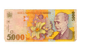 5000 lei bill of Romania, 1998 Stock Images