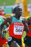 5000 mètres de gagnant kenya1 d'hommes Images libres de droits