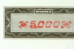 5000 shares Stock Images