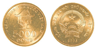 5000 vietnamese dong coin Stock Photos