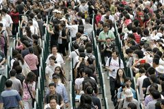 500000 visitors visit Expo park in a day Stock Photo