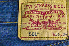 501 Levi loga strauss Obrazy Stock