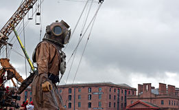 50ft giant diver. Royalty Free Stock Photography