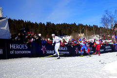50km Ski-Weltmeisterschaft Oslo 2011 Lizenzfreie Stockbilder