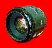 50mm kameralins Fotografering för Bildbyråer