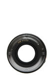 50mm lens mount. Image through a 50mm lens back to forward showing lens mount, isolated on white Stock Photography