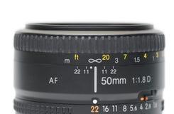 50mm Objektiv Lizenzfreies Stockbild