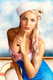 50s And 60s Pinup Style Photo Illustration Royalty Free Stock Photography
