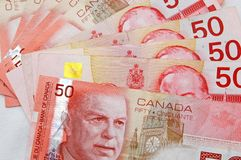 50s canadian dollar. A few 50s canadian dollars royalty free stock images