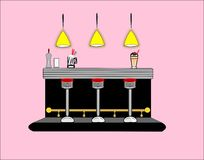 50s Diner Interior Royalty Free Stock Image