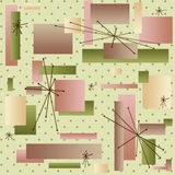 50s Wallpaper. Retro background reminiscient of the styles of the late 50s and early 60s Royalty Free Stock Photography